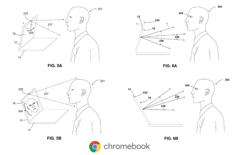 Google Pixelbook Patent Google Makes Chromebook Smarter With Moving Screen
