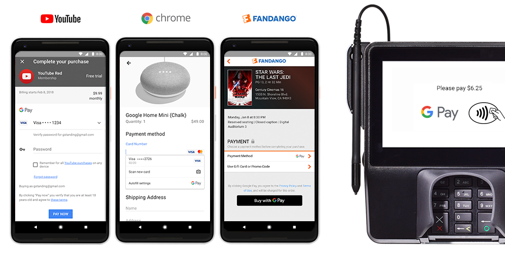 GooglePay Blog Youtube Chrome Apps Stores.max 1000x1000 Android Pay and Google Wallet Merging Into Google Pay