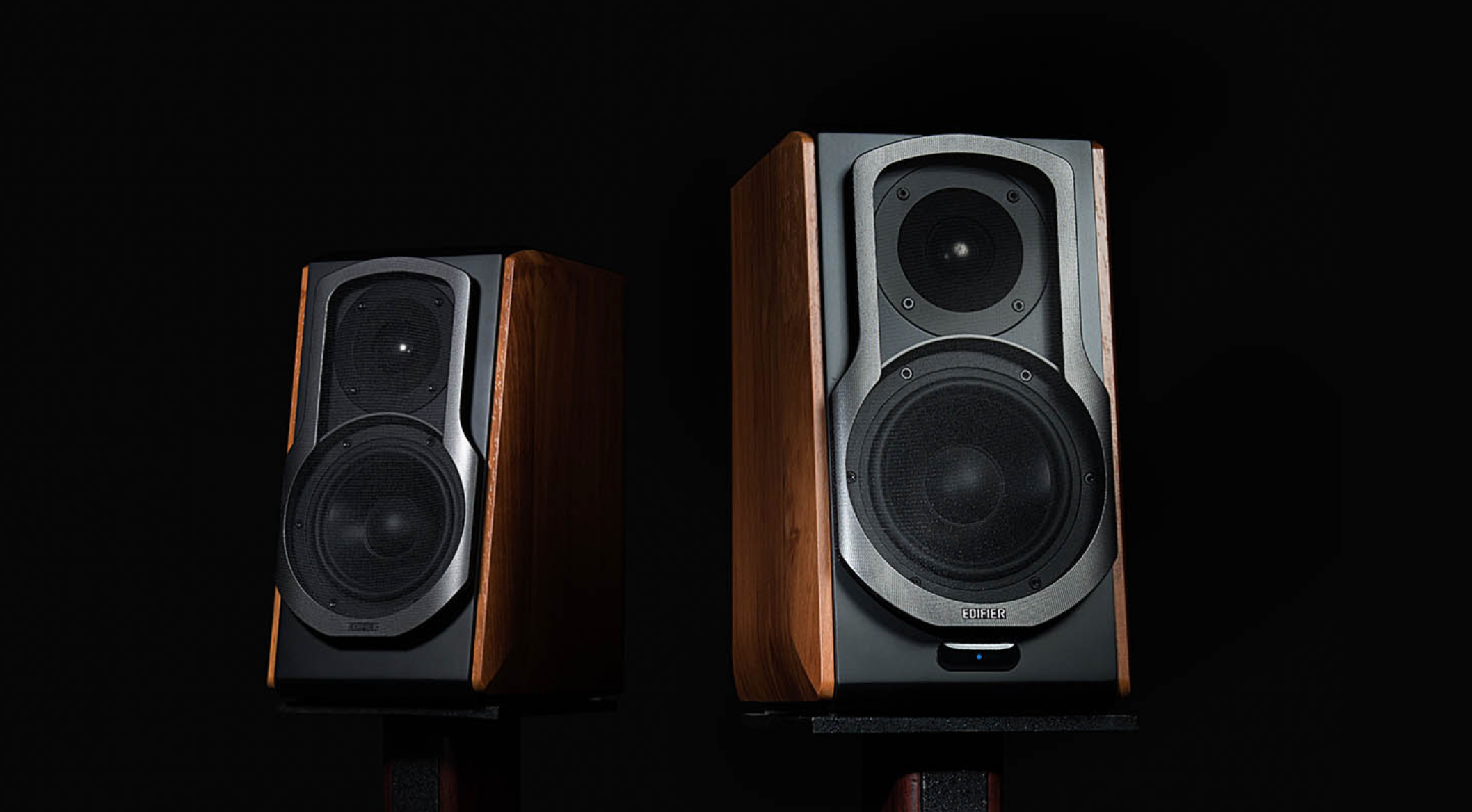 Review Edifier S1000db Big Bold Speakers Which Pack A Punch Hi Fi Pc Speaker System As Premium Continue To Decrease In Size Edifiers Sb1000db Active Bluetooth Bookshelf Dare Go The Other Way These Retroesque