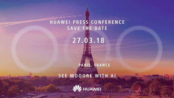 huawei p20 invite Huawei Basically Confirms Launch Of P20 In March
