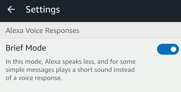 Alexa's 'Brief Mode' Makes It Less Talkative