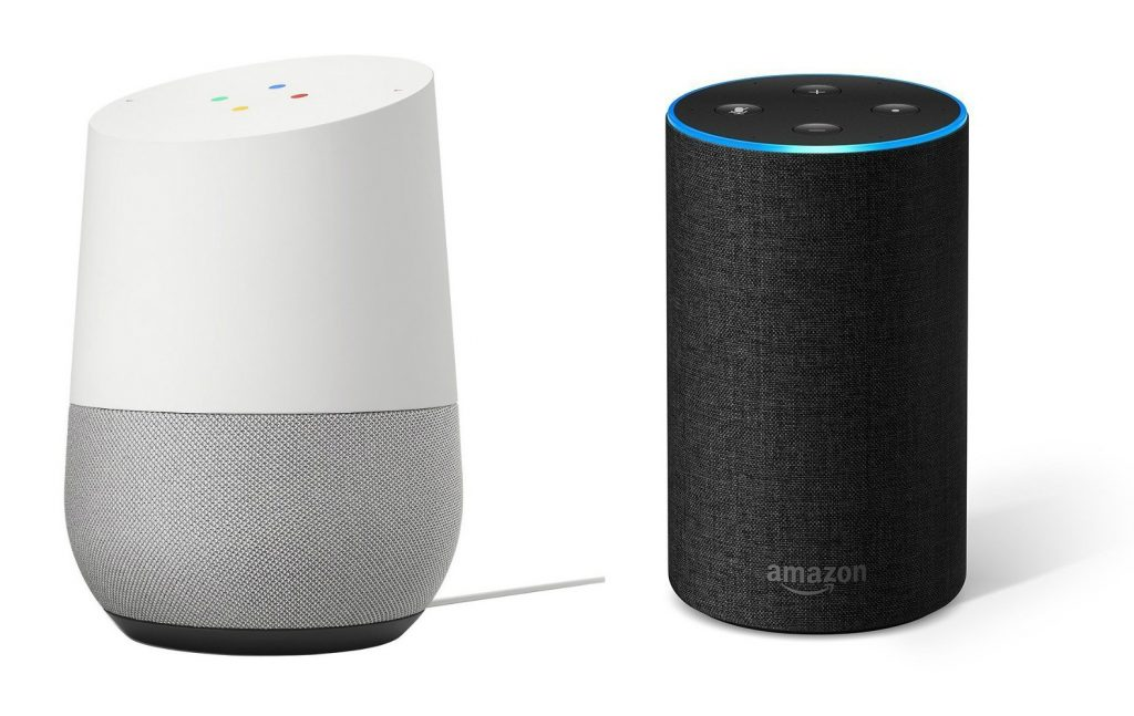 google home amazon alexa 1024x647 Google Assistant And Alexa Can Give You Lonely Planet Travel Tips