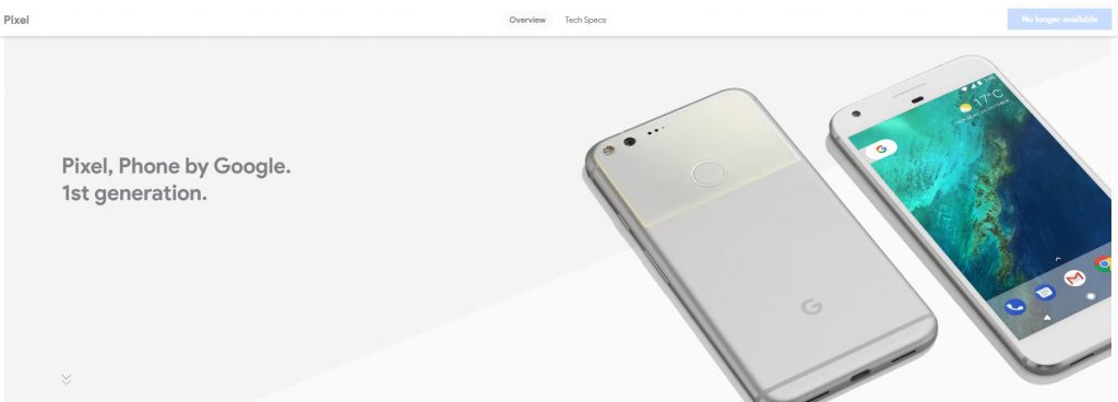google pixel no olonger 1024x368 Google Is No Longer Selling Pixel Phones