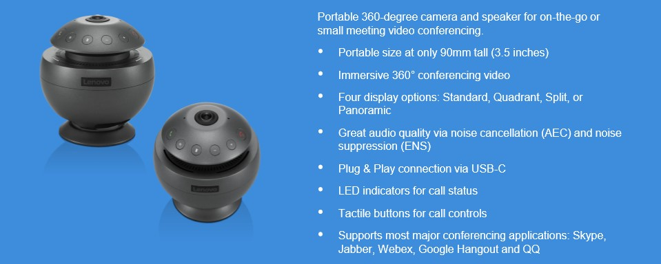 Lenovo Conference Speaker CES 2019: Lenovo Unveil Mini Video Conferencing Speaker