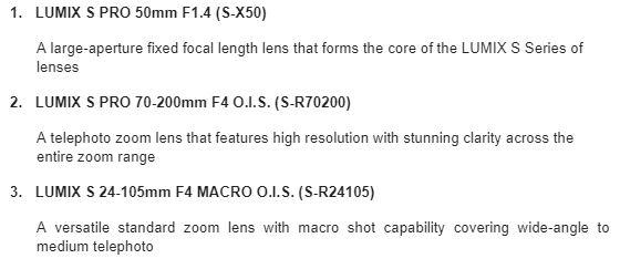 Panasonic 2 Panasonic Launch Full Frame Lumix S1 & S1R