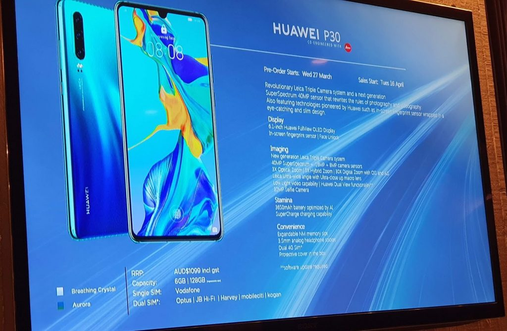P30 specs 12 1024x668 Huawei Launch Quad Camera P30 Pro For A$1,599