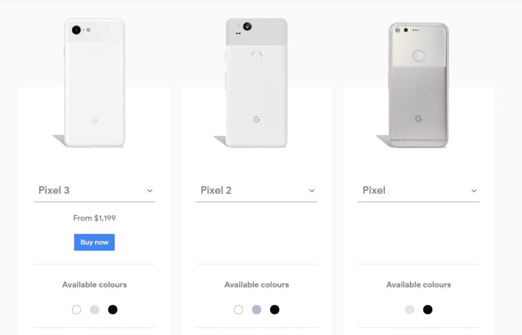 Google Pixel 1024x657 Google Ditch Pixel 2 & 2XL After 18 Months
