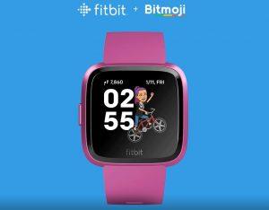 fitbit 300x234 Fitbit Debut Bitmoji Clock Face