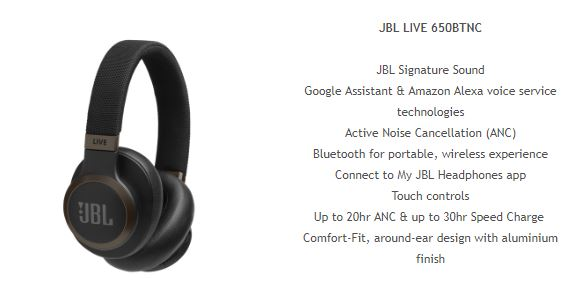 jbl bt 600 JBL Launch 'LIVE' Smart Headphones In Oz