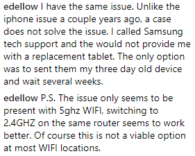5ghz tabs5e New Samsung Tabs Unfixable Flaw