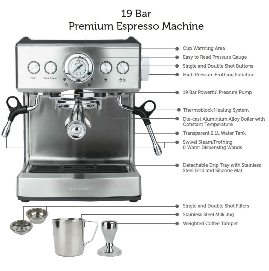 Coffee Machine Features 2 $299 Aldi Espresso Coffee Machine A Real Threat To More Expensive Breville & Delonghi Machines