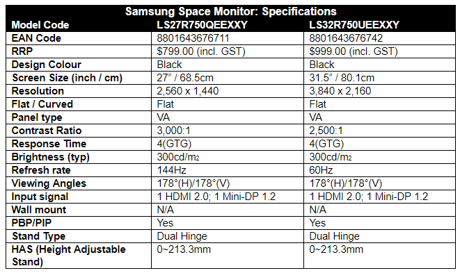 Samsung Space Monitor 11 Samsung Release 4K 'Space' Monitor From $799
