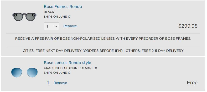bose frames rondo Bose Frames Coming To Oz June For $300