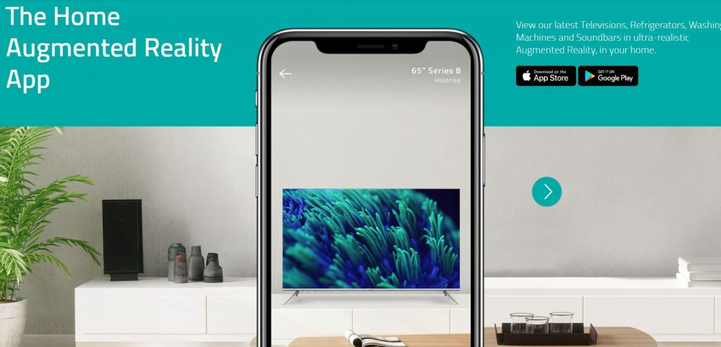 Hisense Launch AR App To Virtually Place Products In Home - SmartHouse