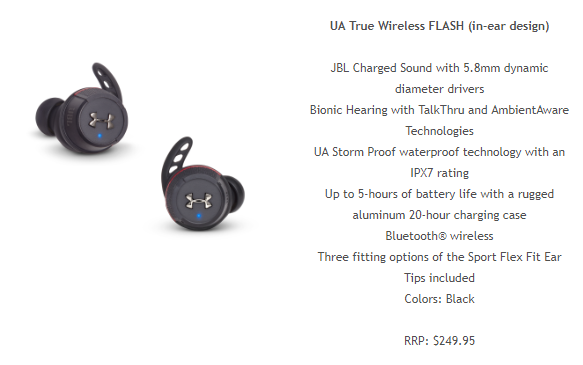 ua JBL x Under Armour Headphones Land In Oz