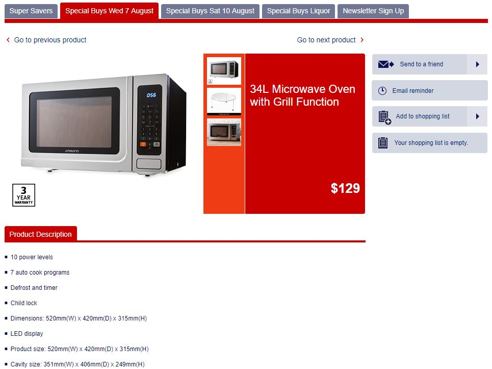 34L Microwave Oven with Grill Function ALDI Goes Big On Kitchen Appliances & Fitness