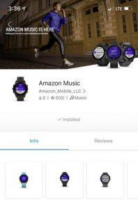 Amazon Music app 198x300 Amazon Music Debut On Garmin Smartwatches
