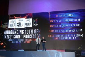 Intel 2019 Computex keynote 11 300x200 Intel Launch 10th Gen Chips To Fend Off AMD