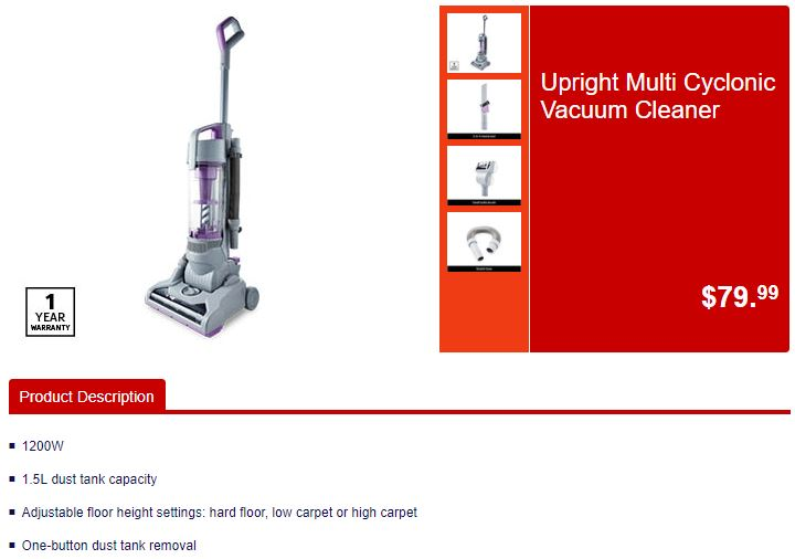 Upright Multi Cyclonic ALDI Launch Cooking & Cleaning Sale