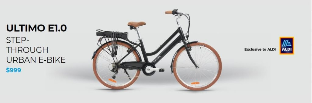 Cell Ultimo Bike step through 2 $999 E Bike From ALDI Special Buys
