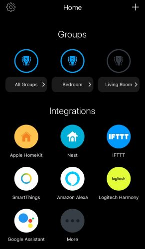 LIFX app 291x500 Review: Light Up Your World With LIFX Smart Bulbs