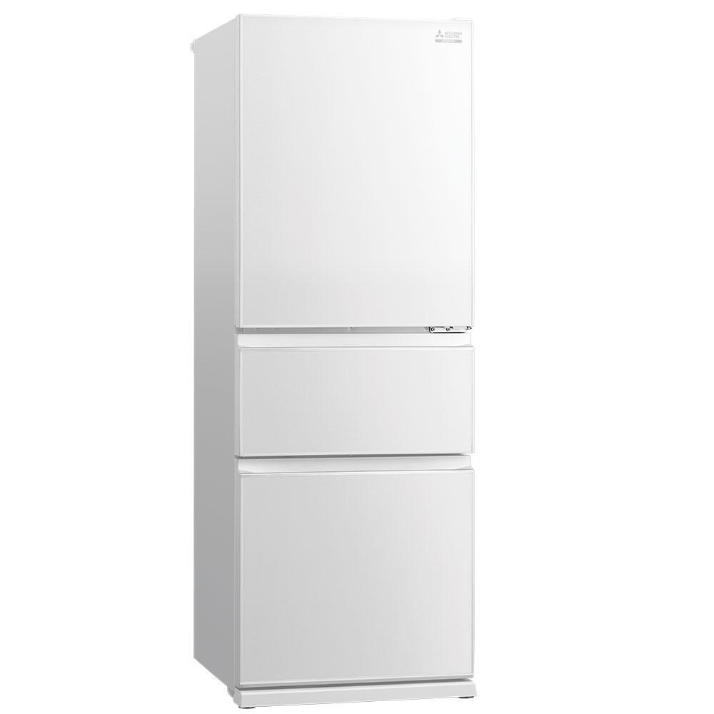 MR CGX370EP GWH white bottom mount fridge 1000 A Slimline Mitsubishi Fridge For A Compact Kitchen