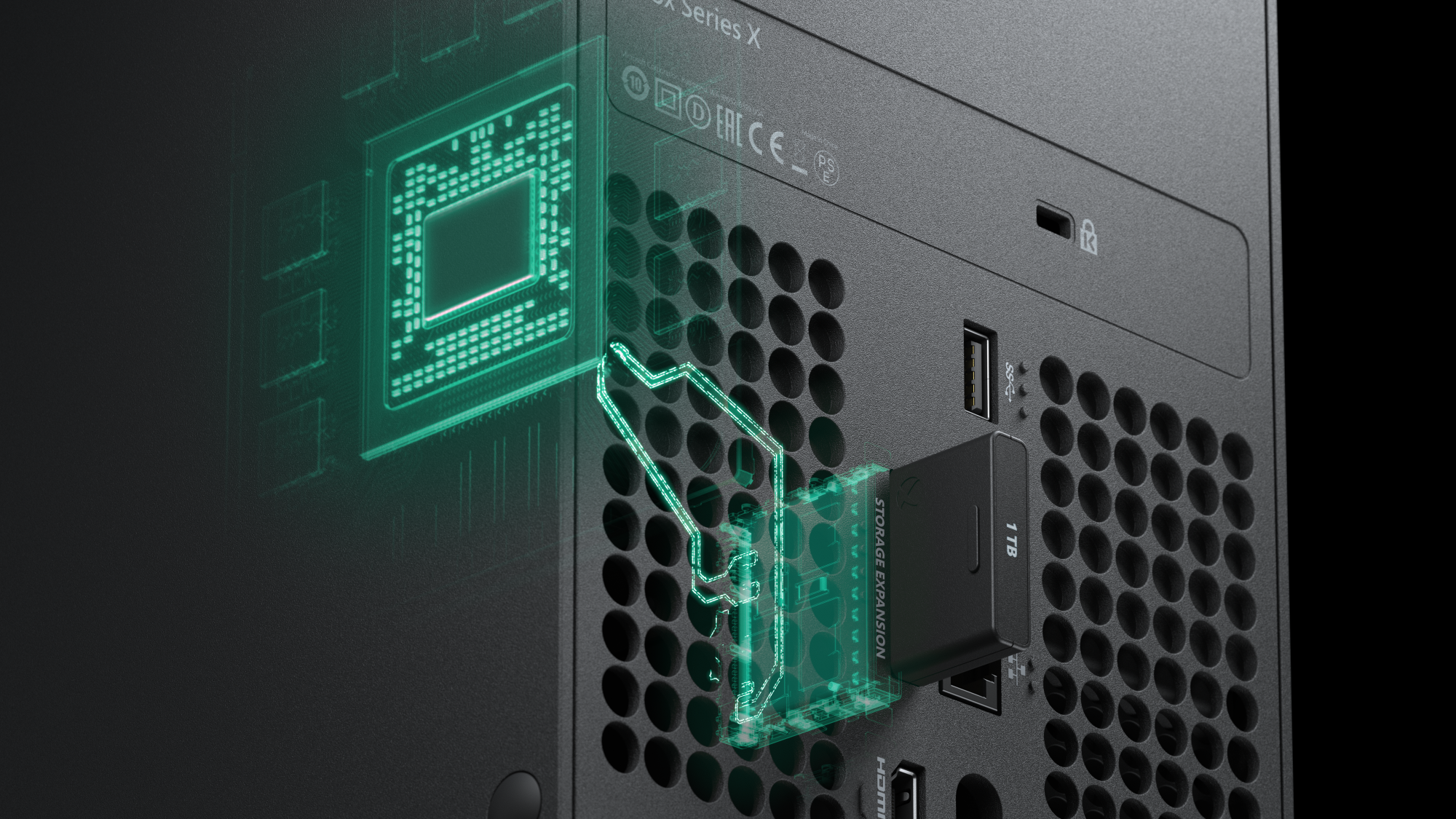 The Xbox Series X will be compatible with new expansion cards.