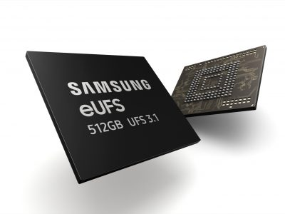 Samsung's 512GB eUFS 3.1 storage.