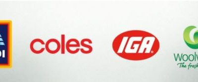 the logos of Australian supermarkets that are working together during COVID-19