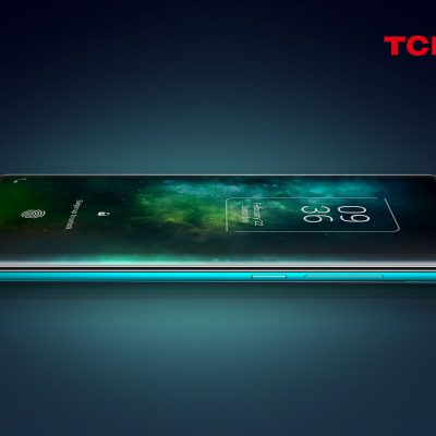 TCL 10 Pro lying on its side