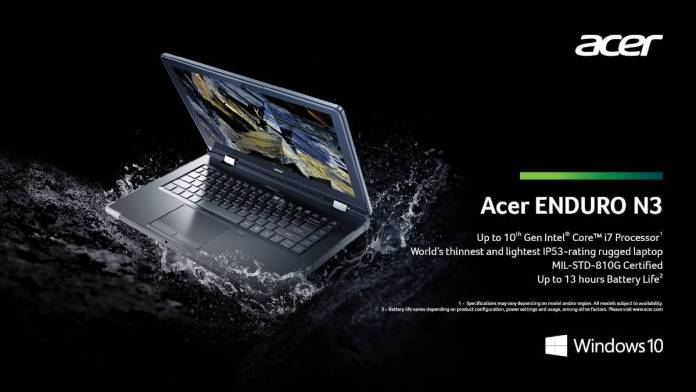 acer enduro n3 Acer To Take On Panasonic In Tough Notebook Market, Models Tipped To Be Cheaper