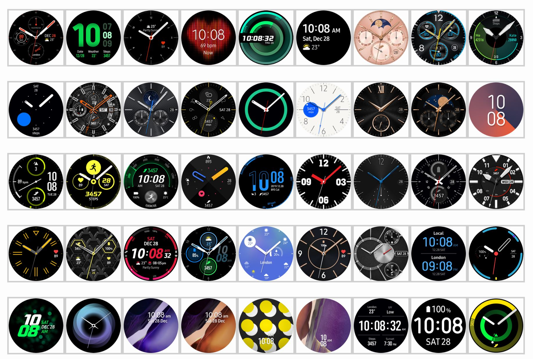 Samsung Galaxy 3 watch faces Samsung Galaxy Watch 3 App Adds Range Of New Gestures