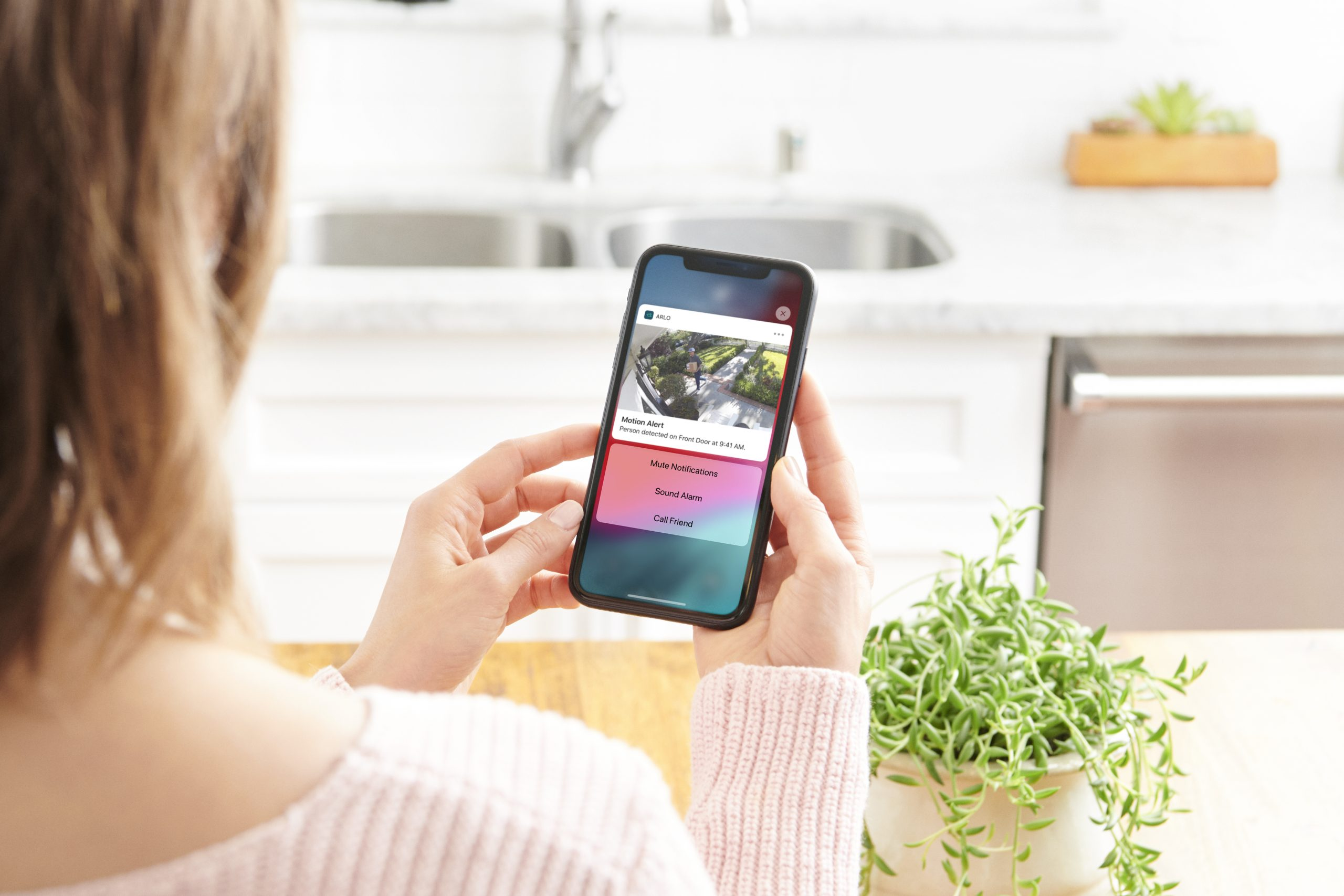 Essential  Spotlight Lifestyle UX Motion Alerts Arlo security camera app scaled Arlo Launch Essential Spotlight Security Camera, With HD Video