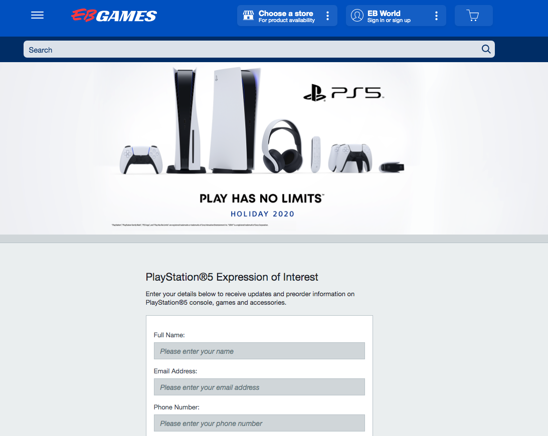Screen Shot 2020 08 27 at 11.45.34 am Sony Warns Limited PS5 Units Available For Invite Only Pre Order