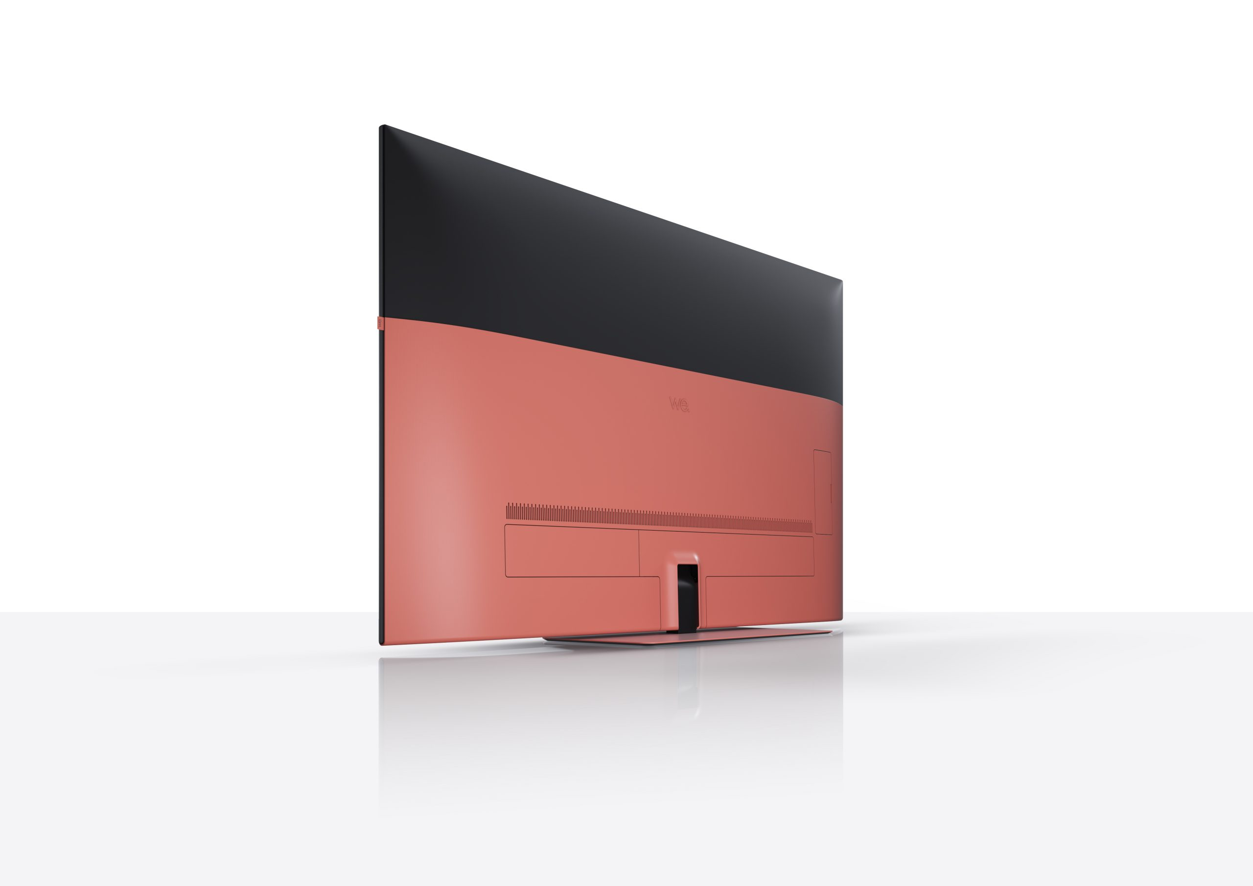 Loewe we 55 tablestand back Living Coral scaled EXCLUSIVE: Loewe Launch We.by Loewe Brand Of Speakers Headphones & New We.TVs With Built In Soundbars