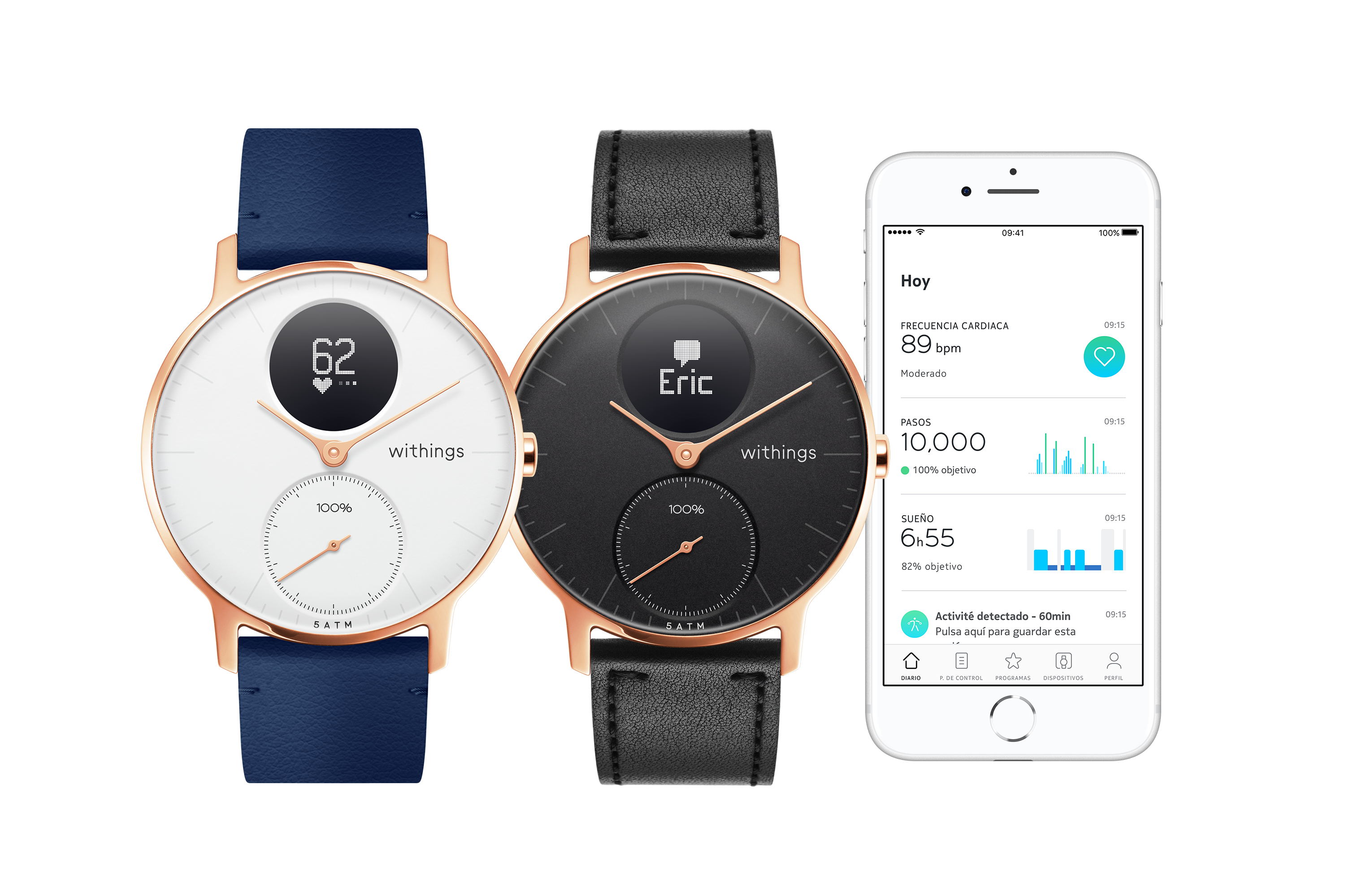 Steel HR Rose Gold 36 Range Leather  Health Mate ES Review: Withings Steel HR Hybrid Smartwatch – The Modern Classic